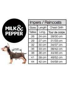 Guide des tailles coupe-vent pour chiens - Milk&Pepper