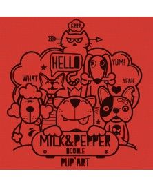 Doodle Orange T-Shirt for Dogs - Milk&Pepper