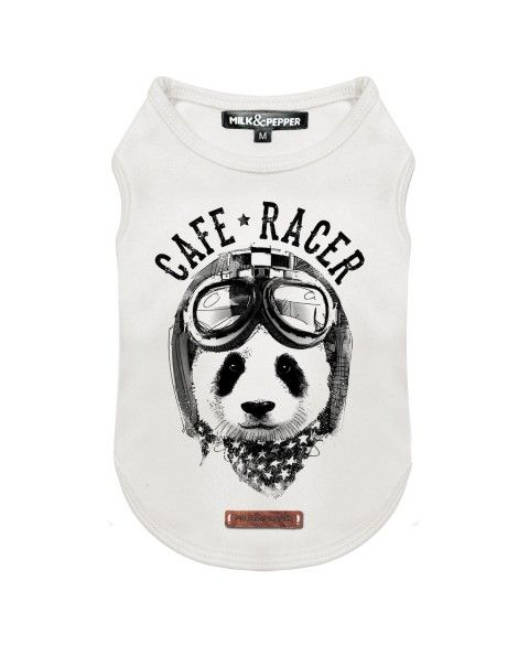 Panda Racer T-Shirt for dogs - Milk&Pepper