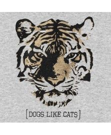 Grey T-Shirt Tiger for dogs - Milk&Pepper