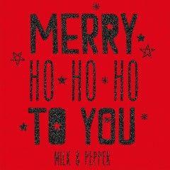 T-Shirt Merry Noël rouge Milk&Pepper pour chien