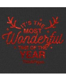 T-Shirt Happy Noel noir pour chien Milk&Pepper