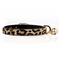 Cat collar in Leopard leather - Milk&Pepper