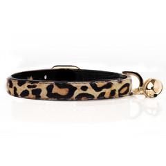 Cat collar in Leopard leather - Milk&Pepper
