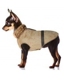 Manteau Urga Camel pour chien - Milk&Pepper