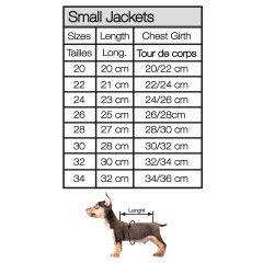 Guide des tailles manteaux pour chiens - Milk&Pepper