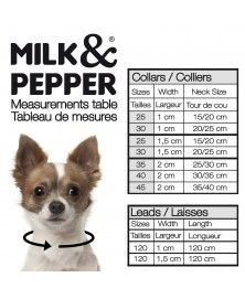 Guide des tailles laisses pour chiens - Milk&Pepper
