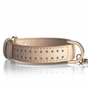 Collier Amaya Taupe pour chiens - Milk&Pepper