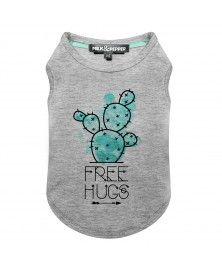 T-Shirt Cactus Gris pour chiens - Milk&Pepper